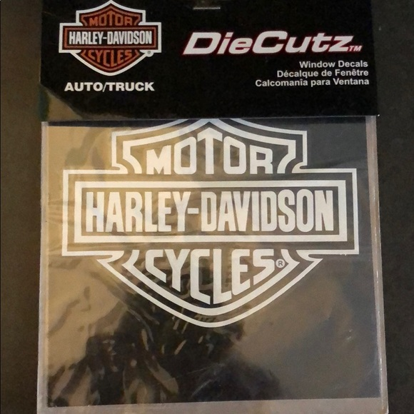 Harley davidson car window decal